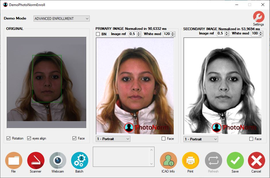 photonorm normalizzatore fototessere icao standard server